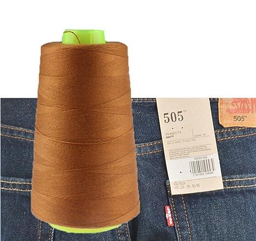 chengyida 1 bobina de hilo de coser para pantalones vaqueros para máquina de coser 3000 yardas Industrial poliéster hilo de coser vaqueros 20s/3 – ...