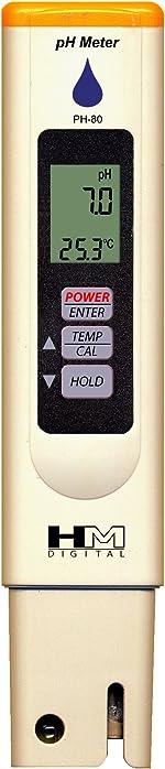 HM Digital HMDPHM80 Digital pH/Temperature Meter, 0.0-14.0 0.1 Resolution, Purple
