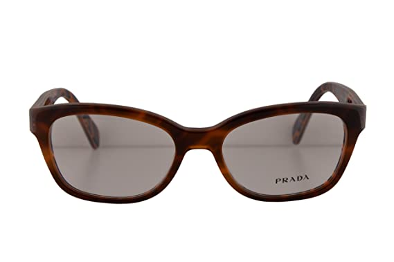 af4257e1522 Image Unavailable. Image not available for. Color  Prada PR20PV Eyeglasses  52-17-140 Brown Print w Demo Clear Lens MAU1O1