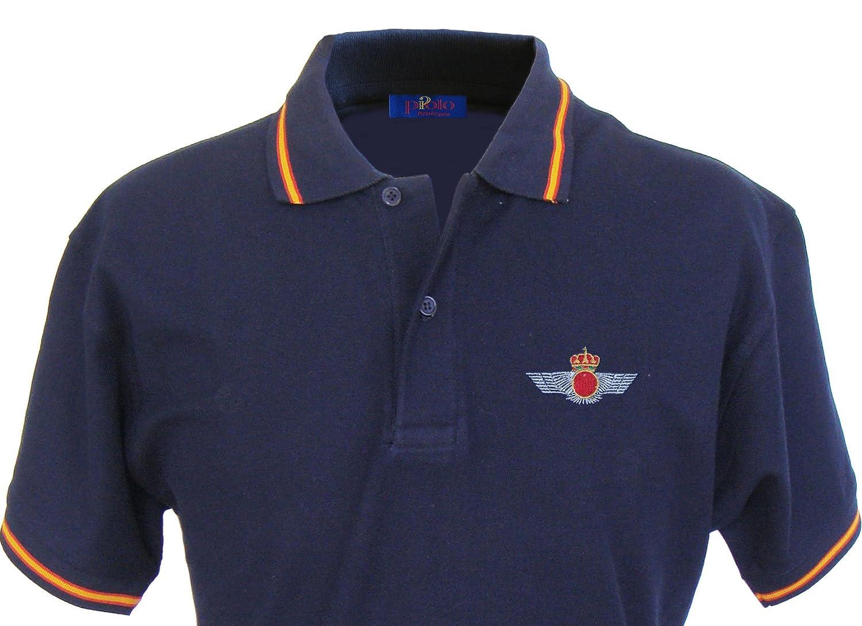 Pi2010 – Polo Ejército del Aire para Hombre, Color Azul Marino ...