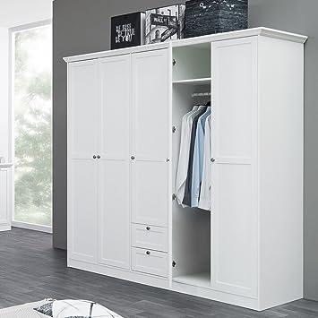 Kleiderschrank Landström 19 Weiß 190x200x67 Cm Drehtürenschrank Schrank  Schlafzimmerschrank Landhausmöbel