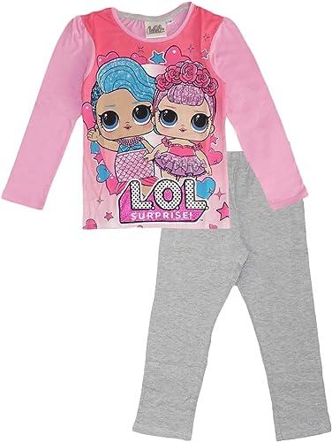 LOL Surprise - Conjunto de pijama de manga larga para niñas, algodón