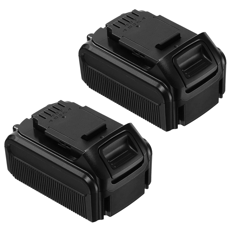 FirstPower 2 Pack 5.5Ah Dewalt 20V Max XR Lithium Ion Replacement Battery for XR DCB205 DCB205-2 DCB204 DCB203 DCB201 DCS380B DCD/DCF/DCG/DCS Series 20V Dewalt Battery (2 pack)