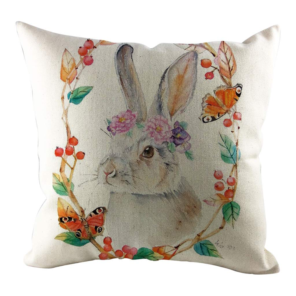 SFE Easter Sofa Bed Home Decoration Festival Rabbit Pillow Case Cushion Cover