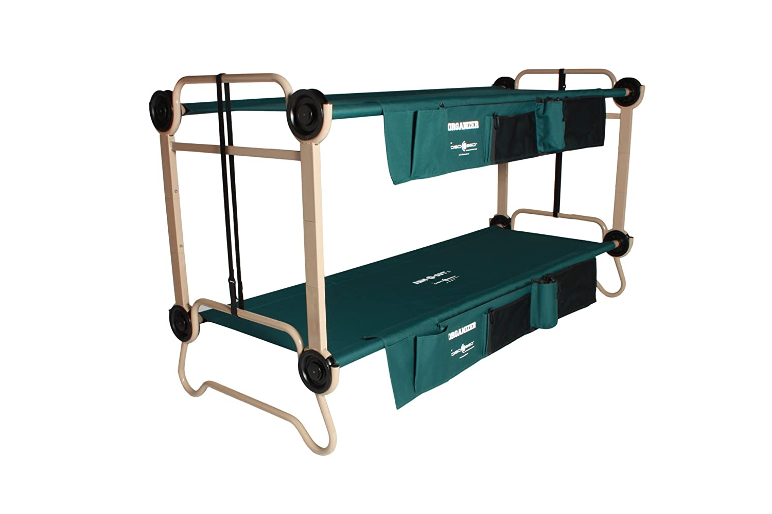 Amazon Disc O Bed Large With Organizers And Leg Extensions Camping Cots Sports Outdoors