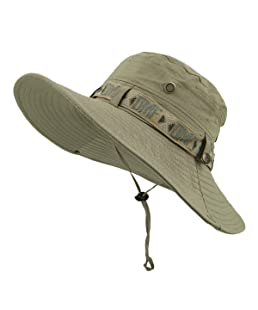 Sunbo Men Outdoor Sun Hat Bucket Hats For Fishing Camping Cycling Hunting Golf Hiking Traveling Beige