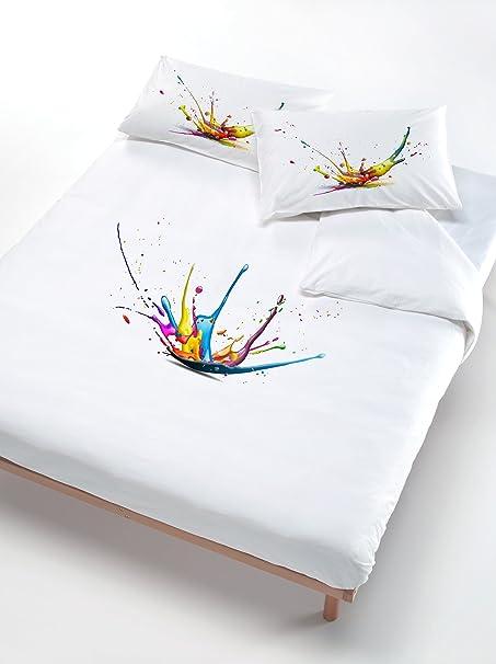 Copripiumino 250 X 200.Italian Bed Linen Set Copripiumino Matrimoniale Multicolore 250 X