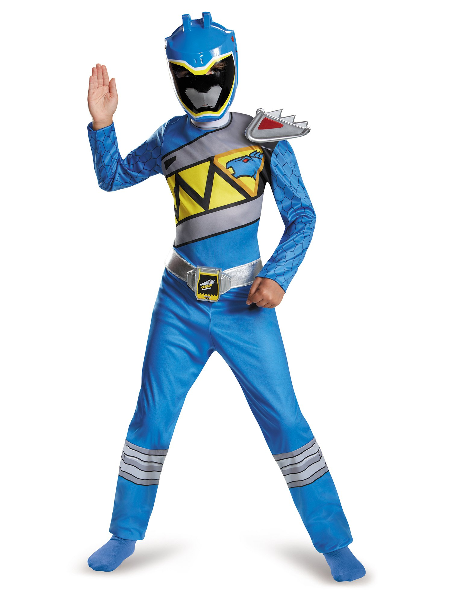 Disguise Blue Ranger Dino Charge Classic Costume, Small (4-6)