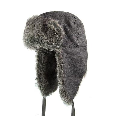 2b9985ca Kangol Ushanka Trapper Hat - Flannel - X-Large: Amazon.co.uk: Clothing