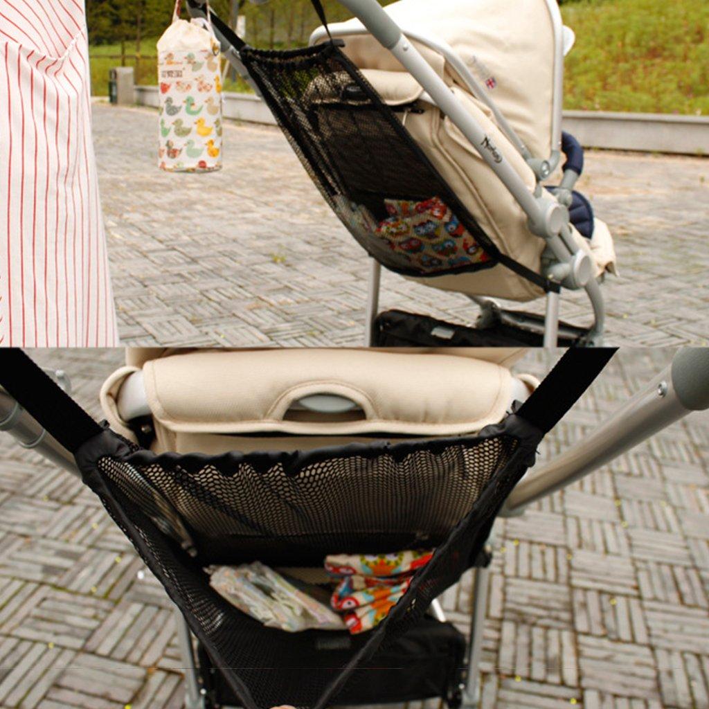 Tandou Pratique B/éb/é Sac en maille de poussette Bouteille Couche Espace de rangement Organisateur Sac de poussette infantile Titulaire
