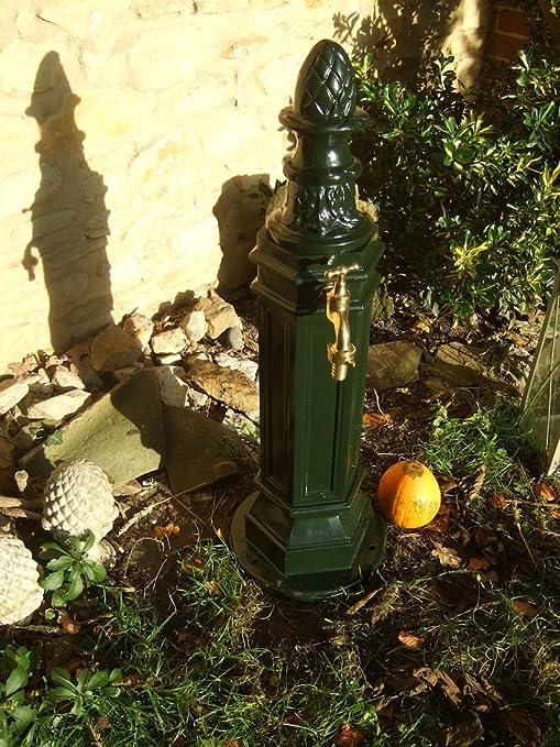 Antikas - columna de agua para jardín - toma de agua jardín - fuente - columna de aluminio: Amazon.es: Jardín