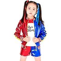 Inception Pro Infinite (Talla M) Disfraz - Harley Quinn - Niños - Carnaval - Halloween - Cosplay - Suicide Squad - Película - Idea de Regalo - Niñas