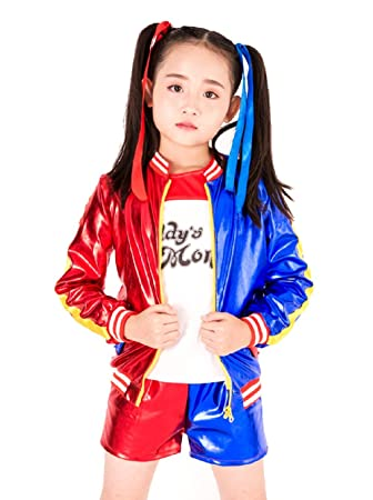 (Corta S) Harley Quinn Disfraz Para Niños Carnaval Halloween Cosplay Suicide Squad Película Idea