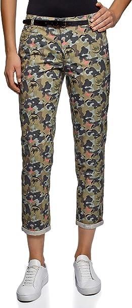 Amazon.com: oodji Ultra - Pantalones de chino con cinturón ...