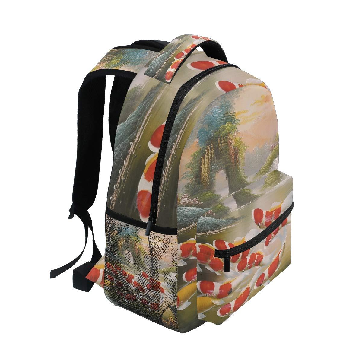 free shipping 67ea1 e222e Backpacks & Bags DEZIRO Swimming Koi Carps School Pack ...