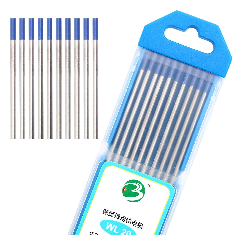 DAHAN TIG Welding Tungsten Electrodes 2% Lanthanated 3/32'' (Blue, WL20) 10-Pack