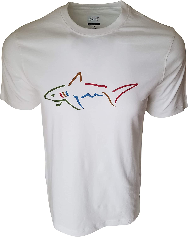 Greg Norman Men's Shark Logo Crew-Neck T-Shirt