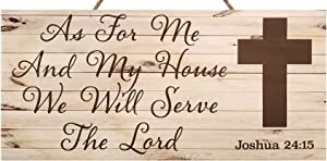 JennyGems As for Me and My House We Will Serve The Lord Joshua 24:15   Inspirational Gifts and Verses   Wedding Gifts   Wedding Signs   Made in USA