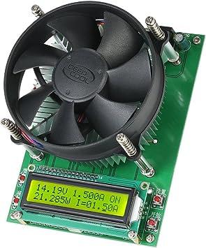 Kkmoon 150w 60v 10a Batterie Akku Entladen Kapazität Tester Konstante Strom Elektronische Belastung Prüfer Modul Mit 1602 Lcd Anzeigen Und Lüfter Baumarkt