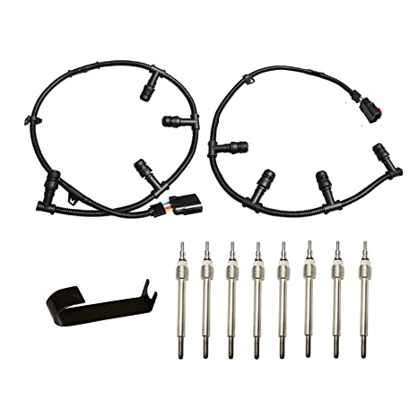 Glow Plug Mazo de cables Kit de bujías Arnés de derecho, izquierda & herramienta de