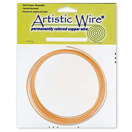 Amazon.com: Artistic Wire 14-Gauge Bare Copper Coil Wire, 10-Feet
