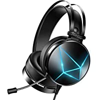PeohZarr Gaming Headset PS4 headset Xbox One Headset with 7.1 Surround Sound PC Headset with Crystal Clear Mic & Large…
