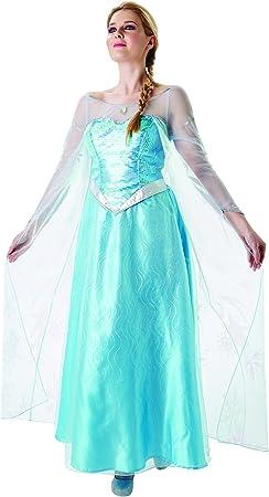 Frozen - Disfraz de princesa Elsa para mujer, talla S adulto ...