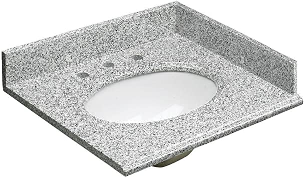 Foremost Hg25228rg Heritage 25 Inch Granite Vanity Top Rushmore Grey Vanity Sinks Amazon Com