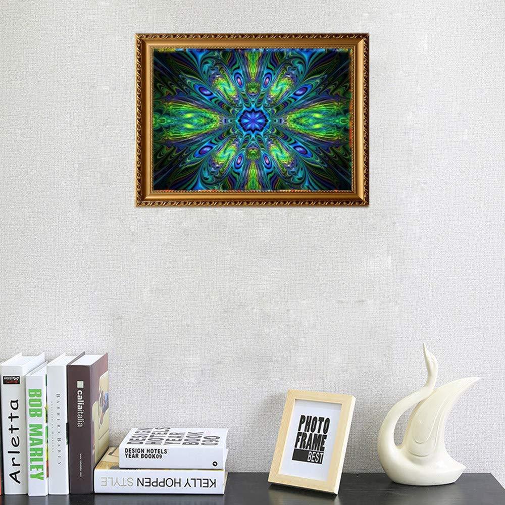 Clearance Arts Rakkiss 5D DIY verde exquisito simetría pavo real ...