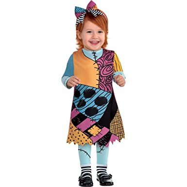 The Nightmare Before Christmas Sally Halloween Costume for Infants, 12,24  Months, with Included Accessories