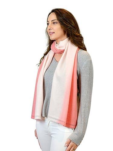 Mimi & Thomas - Set de bufanda, gorro y guantes - para mujer rosa rosa pastel Talla única