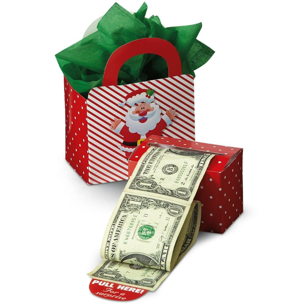 Amazon.com: Happy Santa Money Dispenser & Gift Bag Set: Office Products