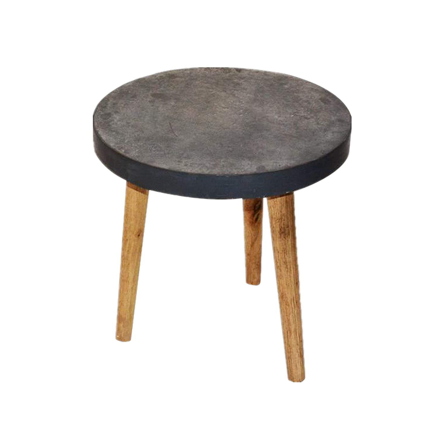 Small tables for office Shaped Amazoncom Paris Loft 158 Occasional Round Small Industril Wood End Table Cement Finish Top Home Office Coffee Tables Legs Kitchen Dining Amazoncom Amazoncom Paris Loft 158 Occasional Round Small Industril
