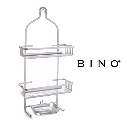 Amazon.com: BINO \'Franklin\' RUSTPROOF Aluminum Shower Caddy, Satin ...