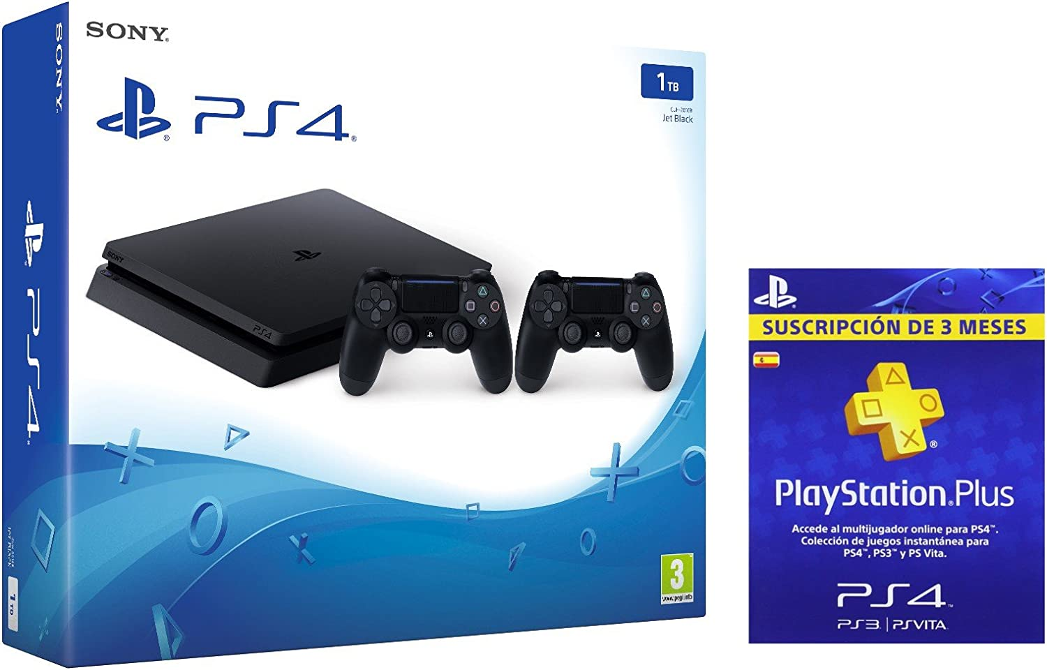 PlayStation 4 Slim (PS4) 1TB - Consola + 2 DualShock + PSN Plus ...