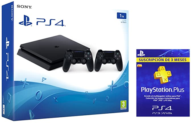 PlayStation 4 Slim (PS4) 1TB - Consola + 2 DualShock + PSN ...
