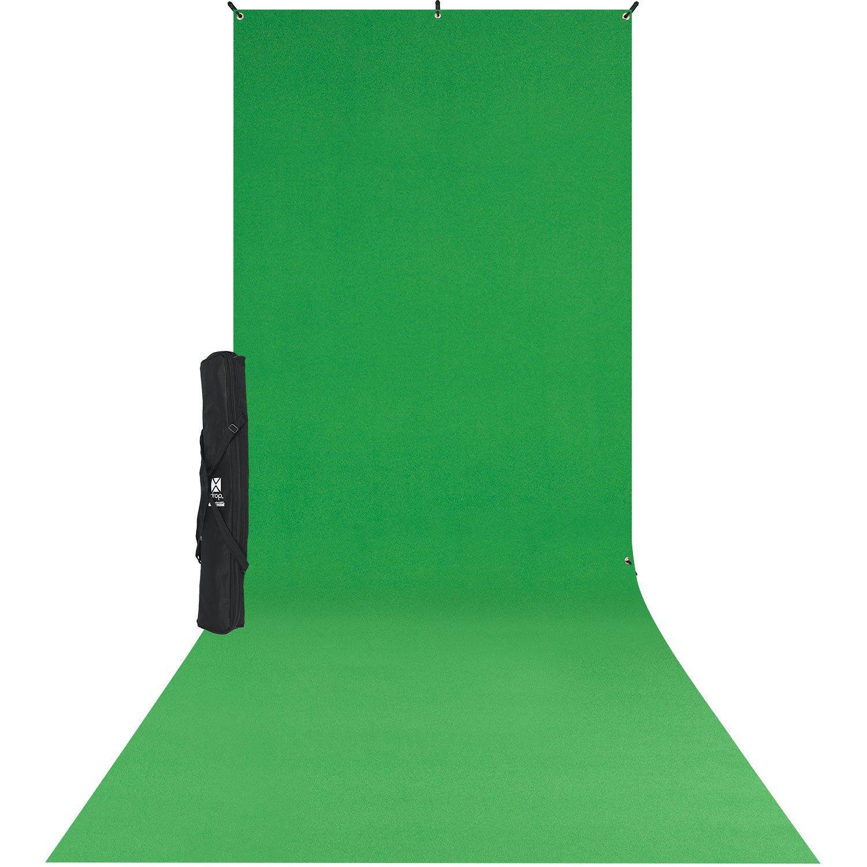 Westcott 579SK X-Drop Wrinkle-Resistant Backdrop Kit - Chroma-Key Green Sweep (5' x 12') by Westcott