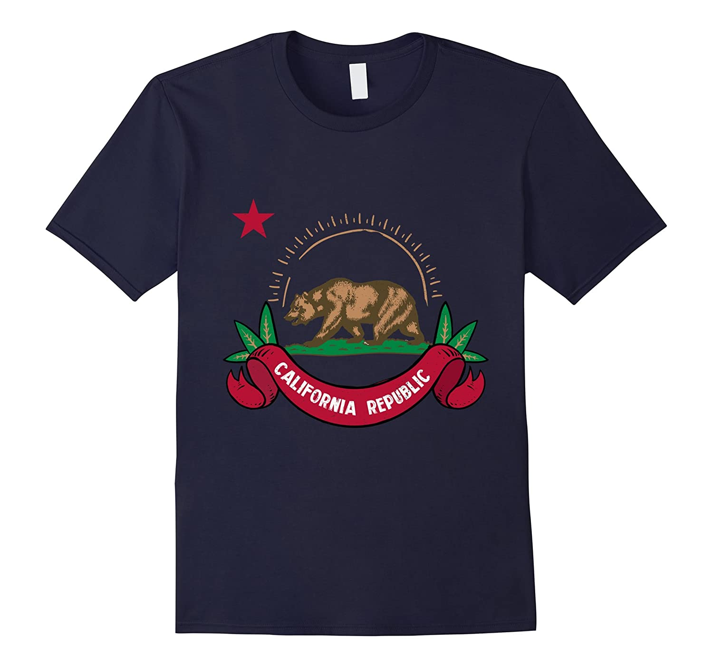 Vintage California Republic Flag T-shirt Tee-FL