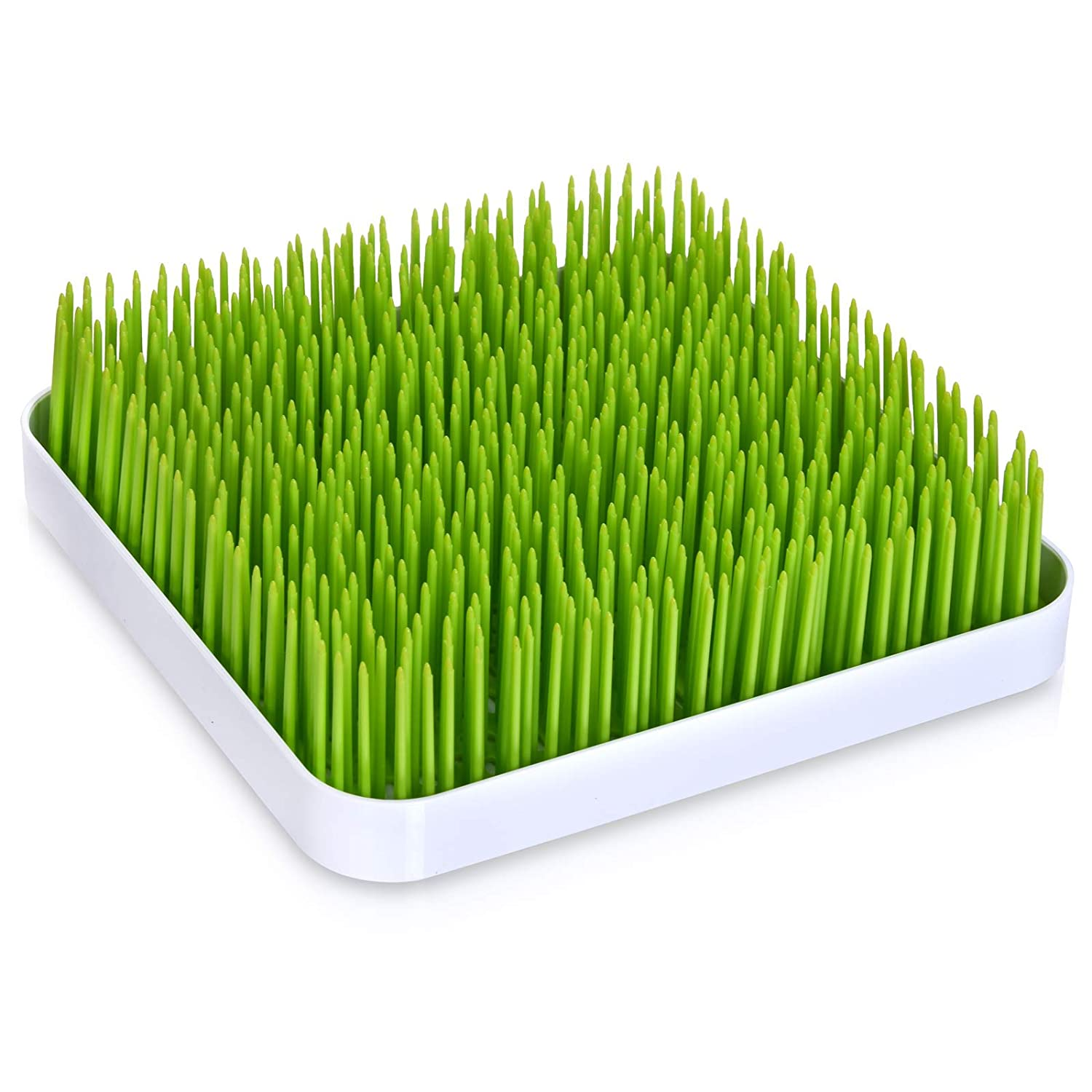 Baby Bottle Drying Rack for Kitchen Counter Top - Quality and Sleek Grass Turf Style Design For the Love of Leisure