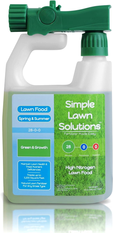 Un maximum de Vert et Growth- haute d'azote 28–0-0Npk- Gazon Nourriture liquide naturel Fertiliser- Printemps & Summer- n'importe quel Herbe: simples et Solutions de pelouse, 32Ounce- concentrée Formule à libération rapide et lent