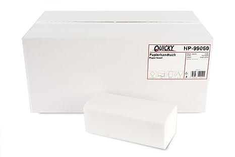 Toallas de mano de papel rápido con ZZ-Fold 25 x 23 cm, 2