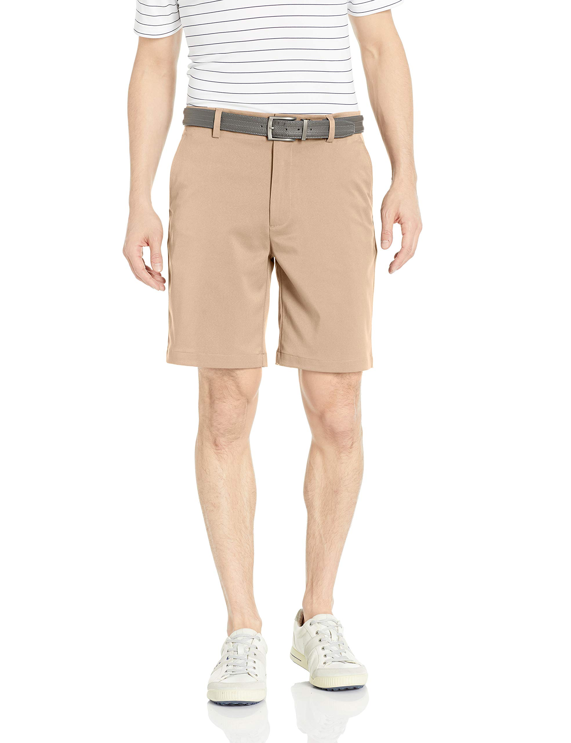 Amazon Essentials Men's Standard Classic-Fit Stretch Golf Short, Khaki, 30 by Amazon Essentials
