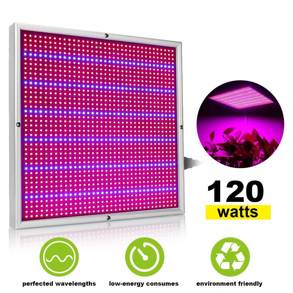 XJLED 120W LED Pflanzenleuchte 1365pcs Rot& Blau SMD LED Pflanzenlampe Pflanzen Wachstumslampe Pflanzenlicht Wuchslampen Innengarten Pflanze wachsen Licht Hängeleuchte
