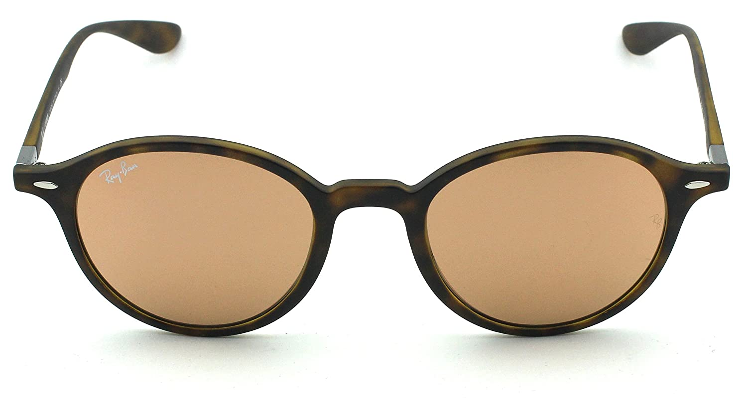 1bd2d1a914 Amazon.com  Ray-Ban RB4237 ROUND LITEFORCE Unisex Mirrored Sunglasses (Black  Frame