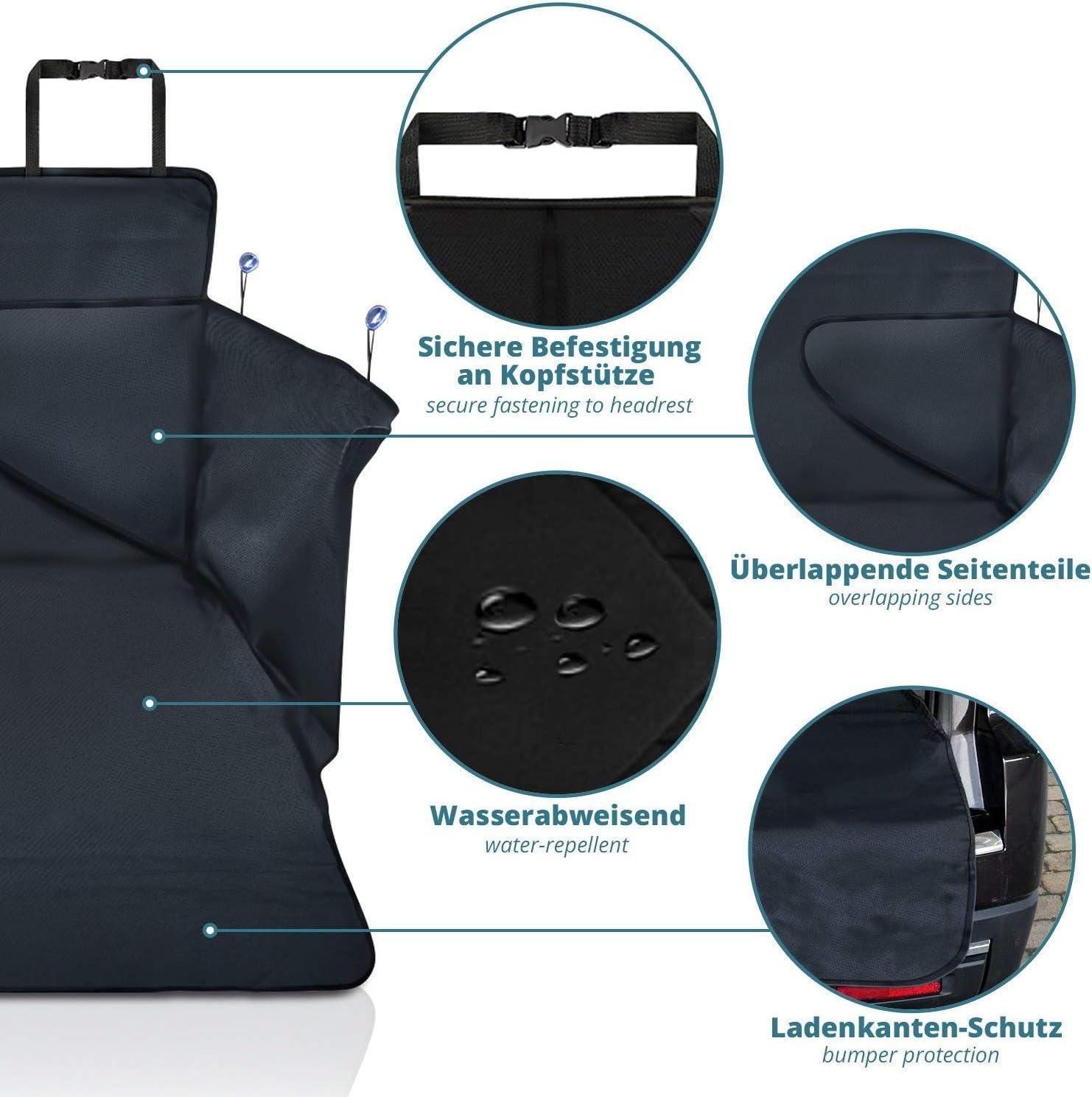 185 * 105 * 36 cm Tapis de Protection matelass/é Universel Mat/ériau antid/érapant smartpeas Housse de Protection de Coffre pour Chiens