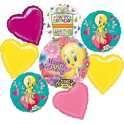 Tweety Bird Party Supplies Birthday Sing A Tune Balloon Bouquet Decorations: Toys & Games [5Bkhe0503611]