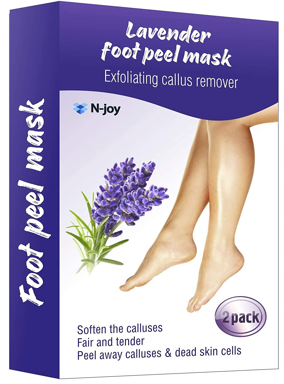 Foot Peel Mask - Exfoliating Sock Foot Mask - Peel Cuticle Remover - Foot Mask for Peeling Away Calluses and Dead Skin Cells - Get Silky Soft Feet Pedicure Kit