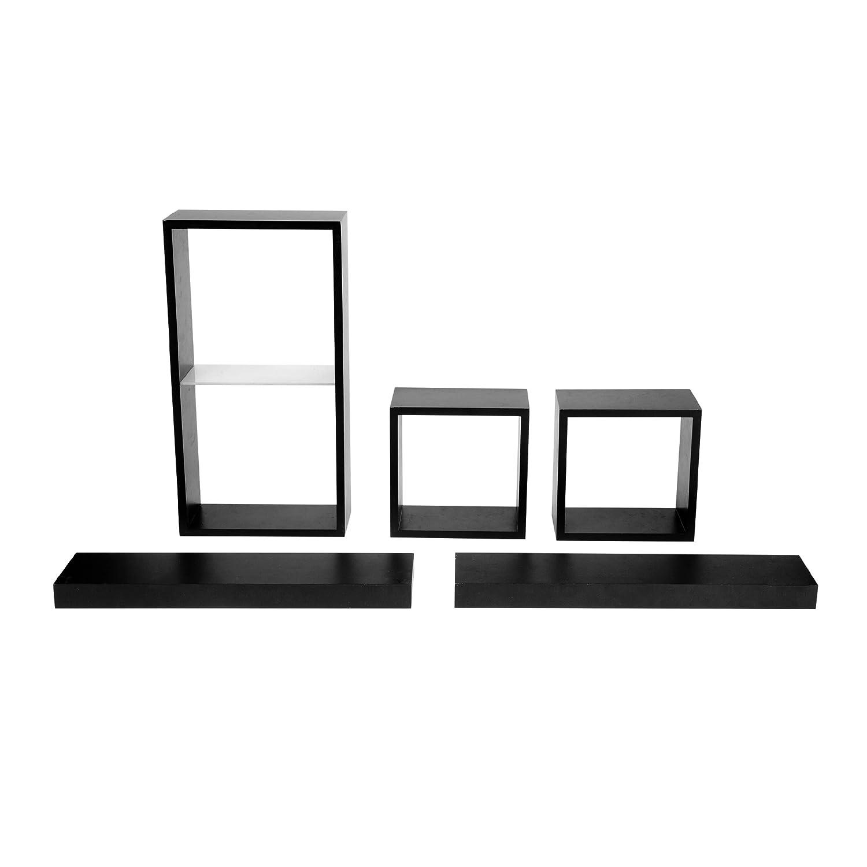 Amazon.com: Melannco Shelf and Cube Set, Set of 5, Black: Home ...
