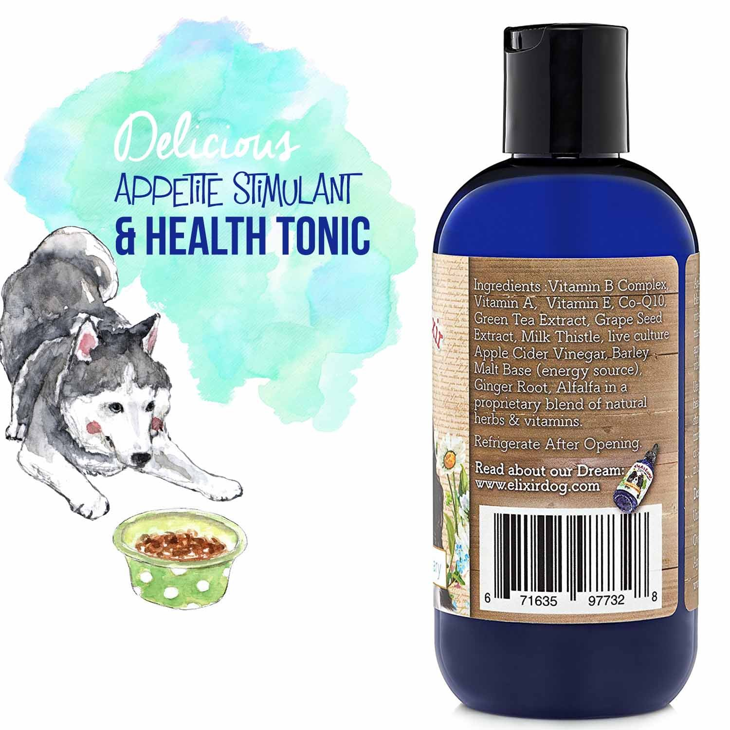 Agatha's Elixir Prebiotics for Dogs ● Appetite Stimulant for Picky Eaters and Senior Pets ● Green Tea & Milk Thistle Boost Immune System, Liver Detoxifier by Agatha's Pet Wellness (Image #5)