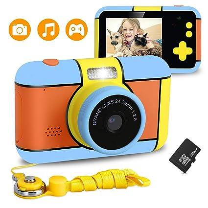 XDDIAS Cámara para Niños, Infantil Cámara de Fotos Digital con 32GB Tarjeta de Memoria, 1080P HD Videocámaras Juguetes, 24 Megapíxeles, Pantalla de ...